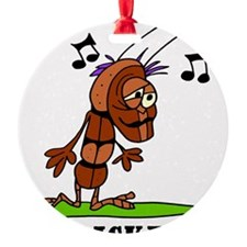 Cartoon Cricket by Lorenzo Ornament