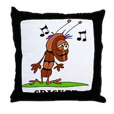 Cartoon Cricket by Lorenzo Throw Pillow