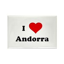 I Love Andorra Rectangle Magnet