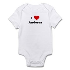I Love Andorra Infant Bodysuit