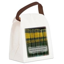 The Feel of Old Books Canvas Lunch Bag