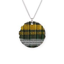 The Feel of Old Books Necklace