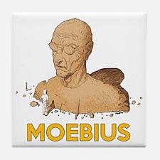 Moebius scifi vintage Tile Coaster