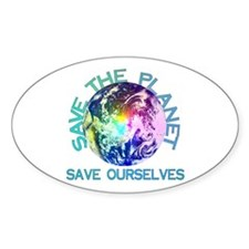 Save The Planet Oval Decal