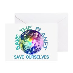 Save The Planet Greeting Cards (Pk of 10)