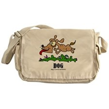 Cartoon Dog by Lorenzo Messenger Bag