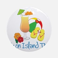 Island Time Round Ornament