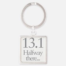13.1 Running Halfway There Square Keychain