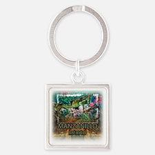 Iguana Manzanillo Mexico Square Keychain