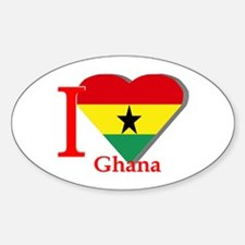 I love Ghana Oval Decal