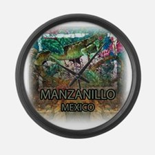 Iguana Manzanillo Mexico Large Wall Clock