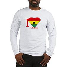 I love Ghana Long Sleeve T-Shirt