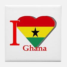 I love Ghana Tile Coaster