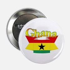 Ghana flag ribbon Button