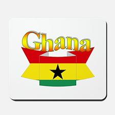 Ghana flag ribbon Mousepad