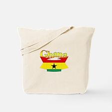 Ghana flag ribbon Tote Bag