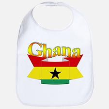 Ghana flag ribbon Bib