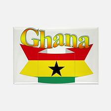 Ghana flag ribbon Rectangle Magnet