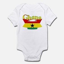 Ghana flag ribbon Infant Bodysuit
