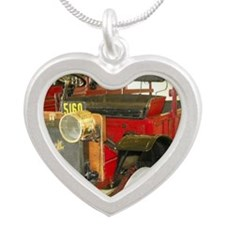 Antique Buick Silver Heart Necklace
