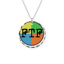 FTF Round Sticker Design Necklace