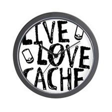 Live, Love, Cache Wall Clock