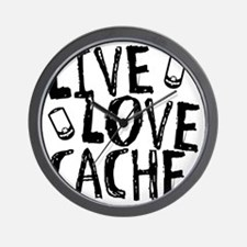 Live, Love, Cache Wall Clock