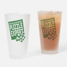 Geocaching Puzzle Expert Drinking Glass