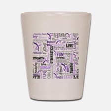 gymnastics pattern 10 x 8 Shot Glass