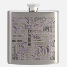 gymnastics pattern 10 x 8 Flask