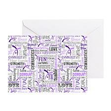 Gymnastics Messenger Bag Greeting Card
