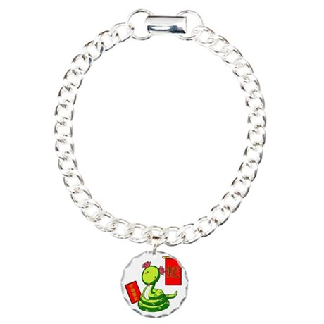 Year of the Snake Charm Bracelet, One Charm