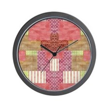 Trendy Patchwork Quilt Wall Clock