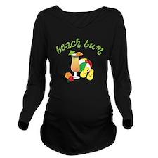 Beach Bum Long Sleeve Maternity T-Shirt