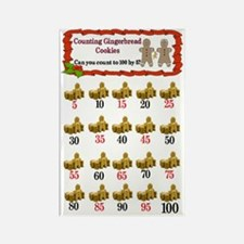 Counting cookies chart Rectangle Magnet