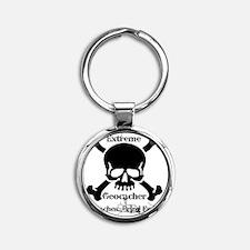 5/5 caches...bring em on! Round Keychain