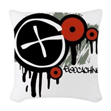 Geocaching Vector Design Woven Throw Pillow