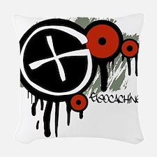 Geocaching Vector Design Woven Throw Pillow
