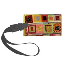 Crazy Quilt Luggage Tag