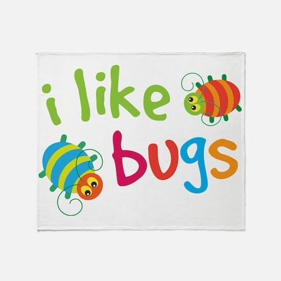 Funny Buggies I Like Bugs Throw Blanket