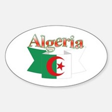 Algeria flag ribbon Oval Decal