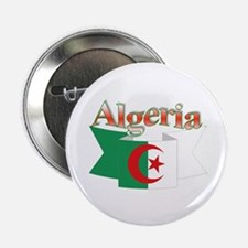 Algeria flag ribbon Button