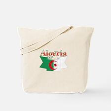Algeria flag ribbon Tote Bag