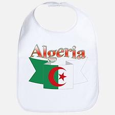 Algeria flag ribbon Bib