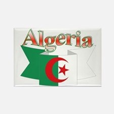 Algeria flag ribbon Rectangle Magnet