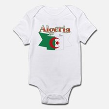 Algeria flag ribbon Infant Bodysuit