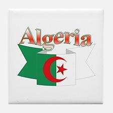 Algeria flag ribbon Tile Coaster