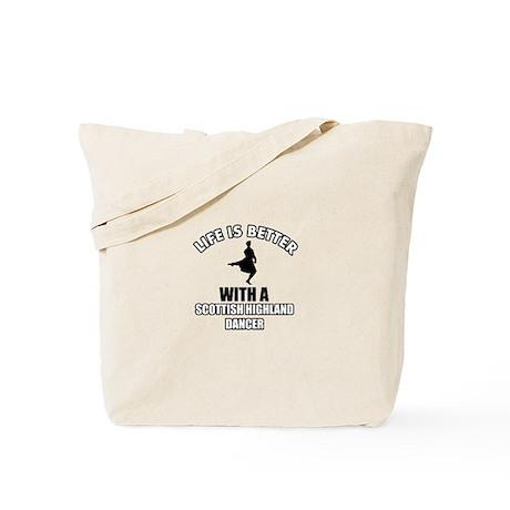 SCOTTISH HIGHLAND dance designs Tote Bag