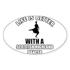 SCOTTISH HIGHLAND dance designs Decal