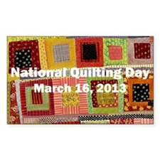 National Quilting Day 2013 Decal